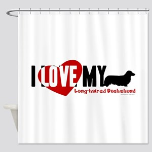 Dachshund [long-haired] Shower Curtain